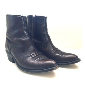 Vintage cropped cowboy boots
